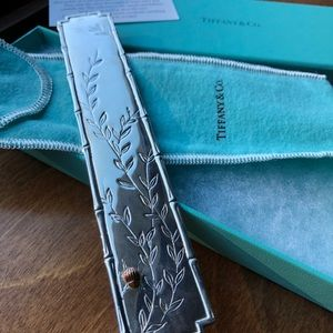 Tiffany&Co silver bookmark.